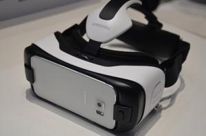 Nahaufnahme der Samsung Gear VR Brille