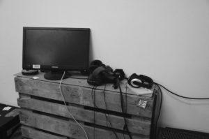 HTC Vive liegt rum